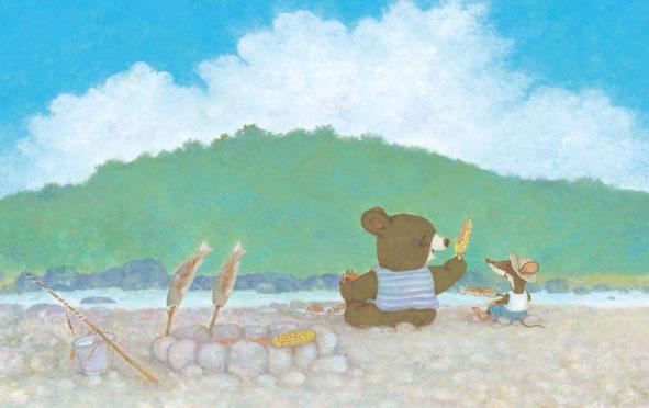 小熊握手简笔画