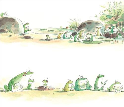 ppt边框素材青蛙